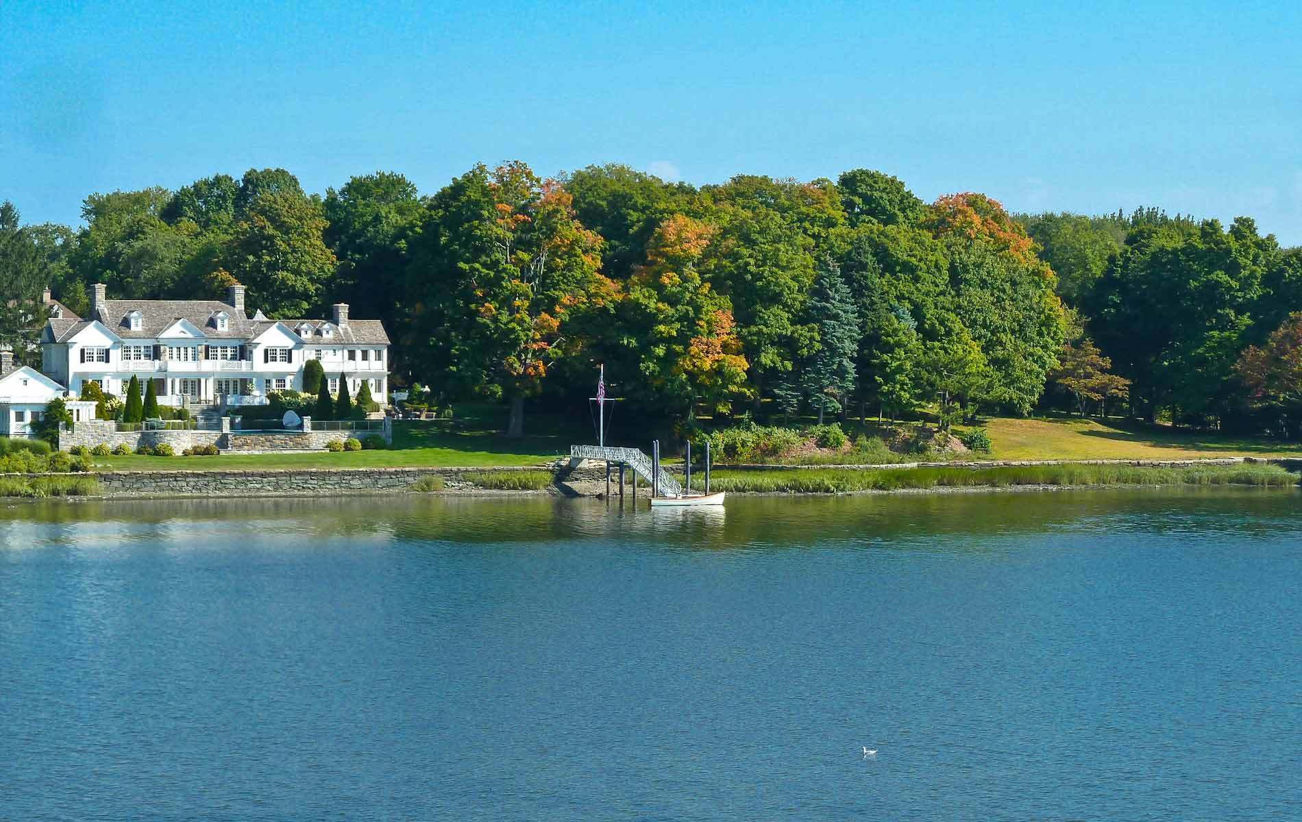 Waterfront Homes for Sale in Greenwich CT: Ocean Beach View, Lake