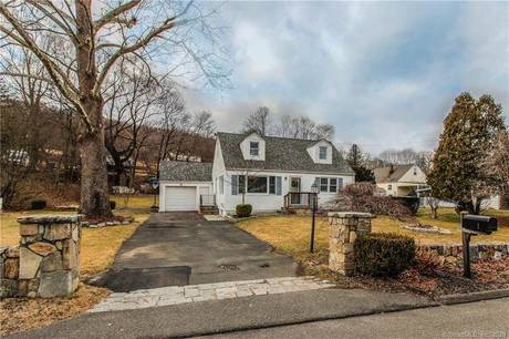 Single Family Home Sold in Danbury CT 06810.  cape cod house near waterfront with 1 car garage.