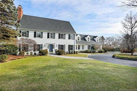 Luxury Single Family Home Sold in Greenwich CT 06830. Colonial house near waterfront with swimming pool and 2 car garage.