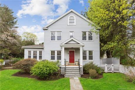 Single Family Home Sold in Greenwich CT 06831. Old colonial farm house near waterfront with 2 car garage.