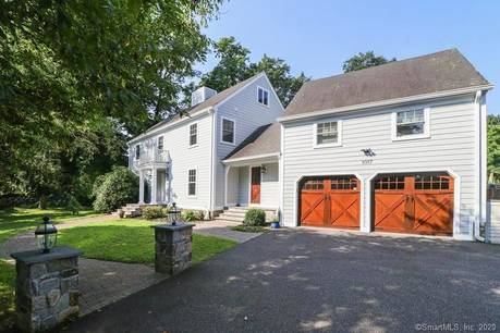 Single Family Home Sold in Greenwich CT 06831. Colonial house near waterfront with 1 car garage.