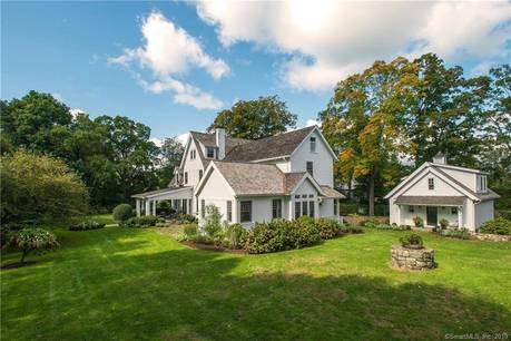 Luxury Single Family Home Sold in Greenwich CT 06830. Old colonial house near waterfront with 2 car garage.