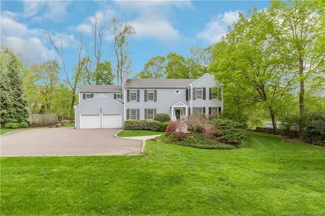 Single Family Home Sold in Greenwich CT 06831. Colonial house near waterfront with 2 car garage.