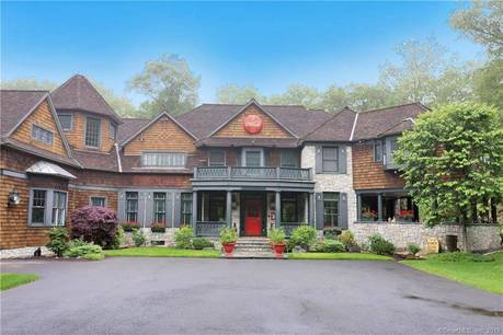 Luxury Mansion Sold in Greenwich CT 06831. Big colonial house near waterfront with 3 car garage.