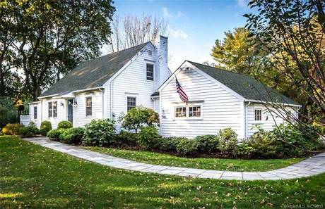 Single Family Home Sold in New Canaan CT 06840.  cape cod house near waterfront with 1 car garage.