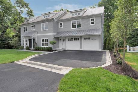 Luxury Single Family Home Sold in Greenwich CT 06878. Colonial house near beach side waterfront with 2 car garage.