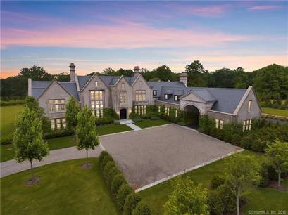 Luxury Mansion Sold in Greenwich CT 06831. Big colonial house near waterfront with swimming pool and 3 car garage.