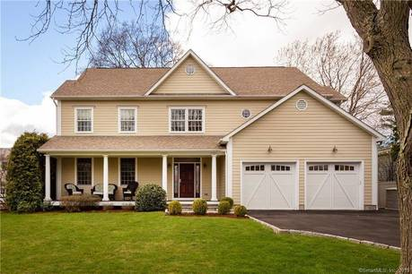 Single Family Home Sold in Greenwich CT 06878. Colonial house near waterfront with 2 car garage.