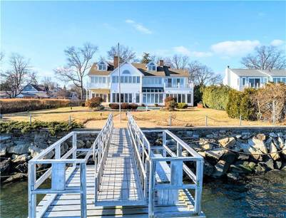 Single Family Home Sold in Stamford CT 06902. Contemporary, colonial house near waterfront with swimming pool and 2 car garage.
