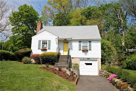 Single Family Home Sold in Stamford CT 06906.  cape cod house near waterfront with 1 car garage.