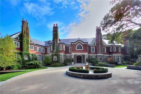 Luxury Mansion Sold in New Canaan CT 06840. Big colonial, tudor house near waterfront with 4 car garage.
