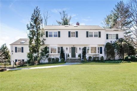 Single Family Home Sold in Greenwich CT 06830. Colonial house near waterfront with swimming pool and 2 car garage.