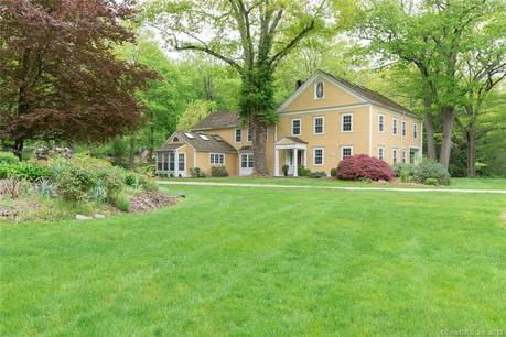 Single Family Home Sold in Wilton CT 06897. Old colonial, antique house near river side waterfront with 3 car garage.