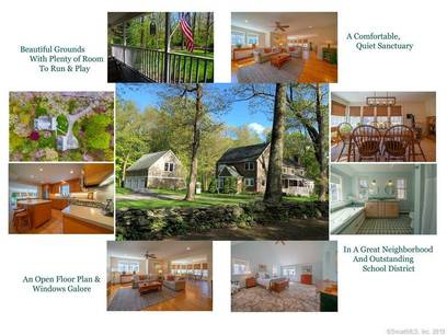 Single Family Home Sold in Wilton CT 06897. Colonial farm house near waterfront with 3 car garage.