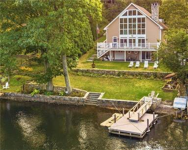 Single Family Home Sold in New Fairfield CT 06812. Contemporary, colonial house near waterfront.