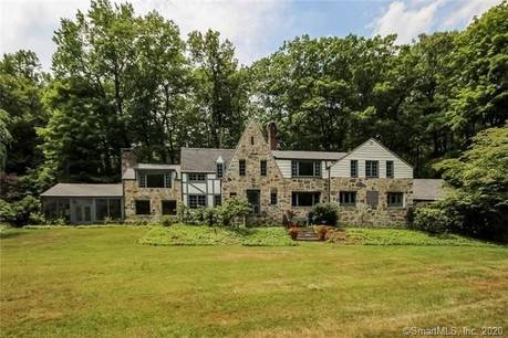 Single Family Home Sold in Stamford CT 06903. Old tudor house near waterfront with swimming pool and 2 car garage.