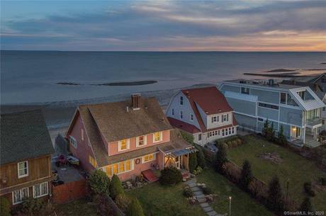 Single Family Home For Sale in Fairfield CT 06824. Old colonial house near beach side waterfront with 2 car garage.
