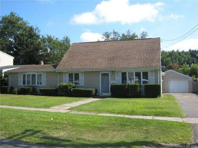 Single Family Home Sold in Stratford CT 06614.  cape cod house near waterfront with 1 car garage.