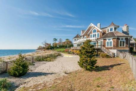 Luxury Mansion For Sale in Fairfield CT 06824. Big colonial house near beach side waterfront with 4 car garage.