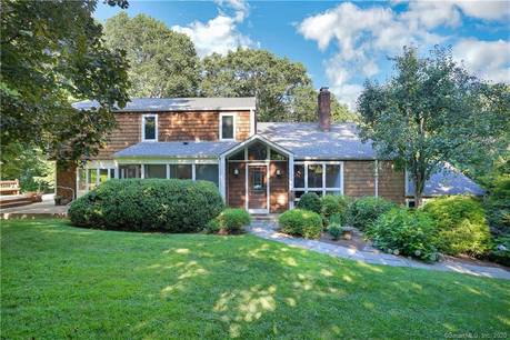 Single Family Home Sold in Westport CT 06880. Contemporary house near waterfront with 2 car garage.