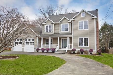 Single Family Home Sold in Westport CT 06880. Colonial house near beach side waterfront with 3 car garage.