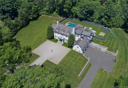 Luxury Single Family Home Sold in Greenwich CT 06830. Colonial house near waterfront with swimming pool and 3 car garage.