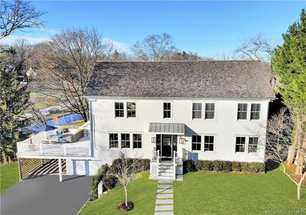 Luxury Single Family Home Sold in Greenwich CT 06870. Colonial house near waterfront with 1 car garage.