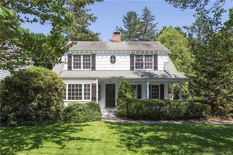 Single Family Home Sold in Greenwich CT 06878. Old colonial house near beach side waterfront with 2 car garage.