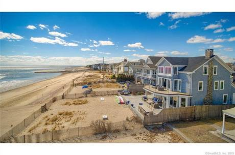 Luxury Single Family Home Sold in Fairfield CT 06824. Old contemporary, colonial house near beach side waterfront with 2 car garage.