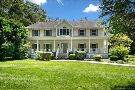 Single Family Home Sold in Wilton CT 06897. Colonial farm house near waterfront with 2 car garage.