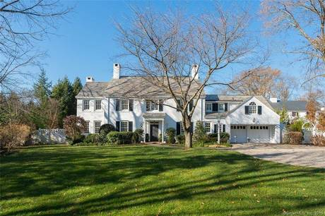Luxury Single Family Home Sold in Greenwich CT 06830. Old colonial house near waterfront with swimming pool and 1 car garage.