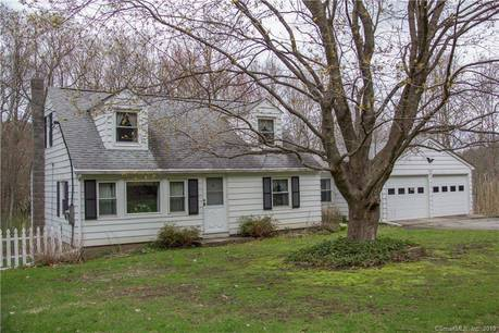 Single Family Home Sold in Sherman CT 06784.  cape cod house near waterfront with 2 car garage.