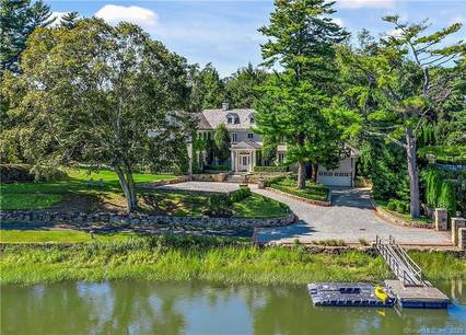 Luxury Mansion For Sale in Greenwich CT 06830. Old colonial, georgian house near waterfront with swimming pool and 4 car garage.