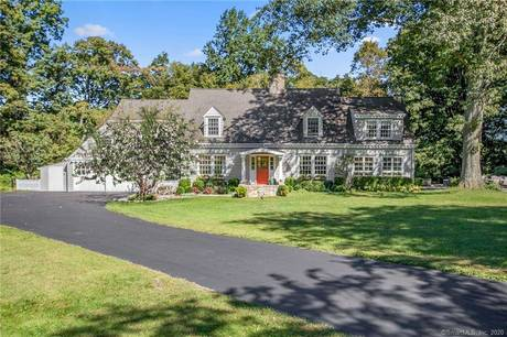 Single Family Home Sold in Wilton CT 06897. Old colonial cape cod house near waterfront with 2 car garage.