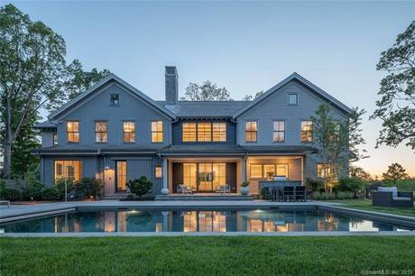 Luxury Mansion Sold in Darien CT 06820. Big  farm house near waterfront with swimming pool and 3 car garage.