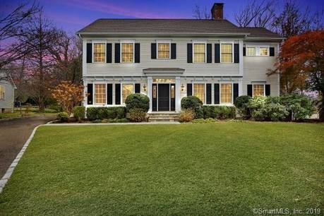 Luxury Single Family Home Sold in Greenwich CT 06878. Colonial house near waterfront with 2 car garage.