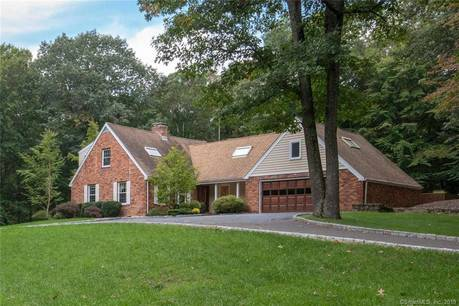Single Family Home Sold in Weston CT 06883.  cape cod house near beach side waterfront with swimming pool and 3 car garage.