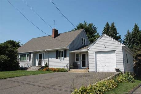 Single Family Home Sold in Stratford CT 06615.  cape cod house near waterfront with 1 car garage.