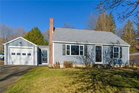 Single Family Home For Sale in Bethel CT 06801.  cape cod house near waterfront with 1 car garage.