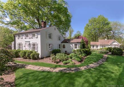Single Family Home Sold in Wilton CT 06897. Old colonial, antique house near waterfront.