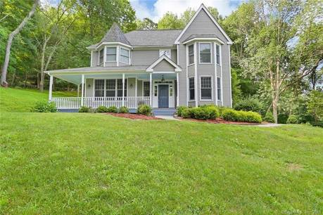 Single Family Home Sold in Redding CT 06896. Victorian, colonial house near river side waterfront with 3 car garage.