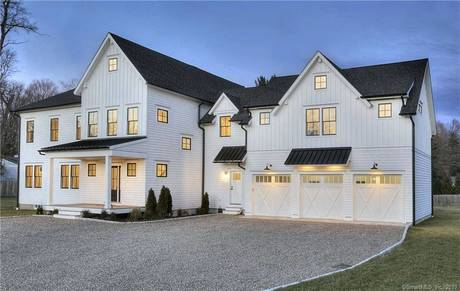 Single Family Home Sold in Westport CT 06880. Colonial farm house near beach side waterfront with 3 car garage.