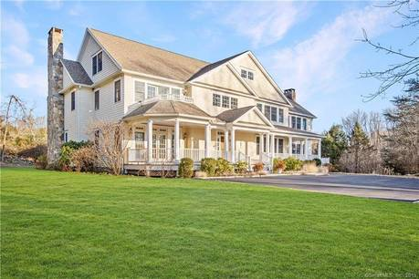 Single Family Home Sold in New Canaan CT 06840. Colonial house near lake side waterfront with swimming pool and 3 car garage.
