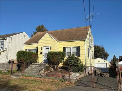 Single Family Home For Sale in Bridgeport CT 06606.  cape cod house near waterfront with 1 car garage.