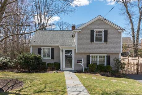 Single Family Home Sold in Darien CT 06820.  house near beach side waterfront with 1 car garage.