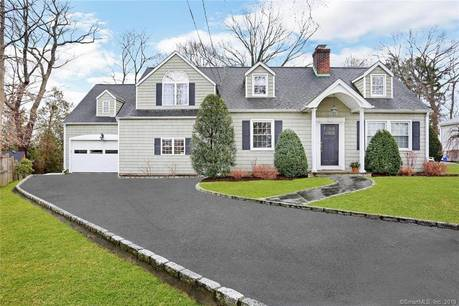 Single Family Home Sold in Darien CT 06820.  cape cod house near waterfront with 1 car garage.