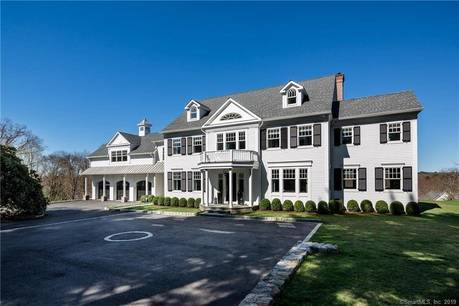 Luxury Single Family Home Sold in New Canaan CT 06840. Colonial, georgian house near waterfront with 3 car garage.