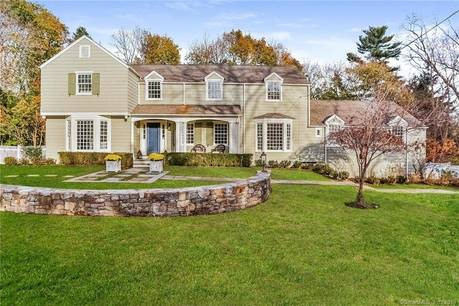 Single Family Home Sold in Westport CT 06880. Old colonial house near waterfront with swimming pool and 2 car garage.