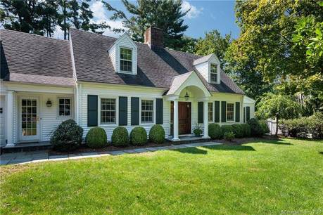 Single Family Home Sold in Darien CT 06820. Old  cape cod house near waterfront with swimming pool and 2 car garage.