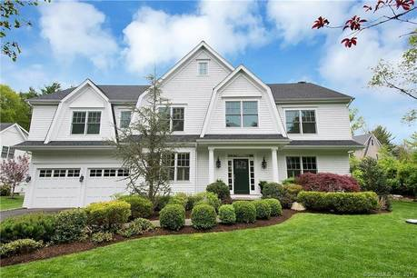 Mansion Sold in Westport CT 06880. Big colonial house near beach side waterfront with 2 car garage.
